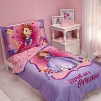"""NoJo® Disney® Sofia the First """"Sweet as a Princess"""" 4-Piece Toddler Bed Bedding Set"""