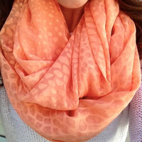 Coral Infinity Scarf