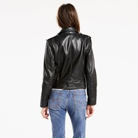 Relaxed Leather Moto Jacket - Black | Levi'S® US Site