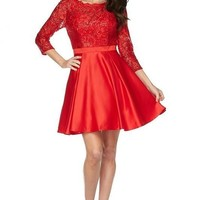 Long sleeve short formal dress  js796