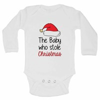The Baby Who Stole Christmas FUNNY KIDS Onesuit