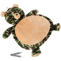 Mary Meyer Green Camo Bear Best Ever Baby Mat with Pacifier Clip