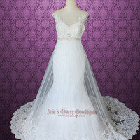 Mermaid Fit and Flare A-line Lace Wedding Dress
