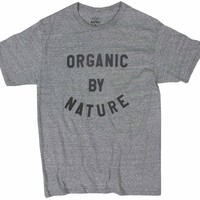 Organic by Nature gray graphic tee