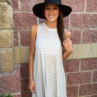 Striped flare away dress-more options