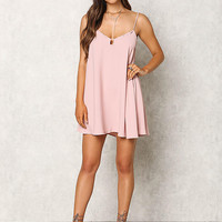 Dusty Pink Low Back Hi-Lo Cami Dress