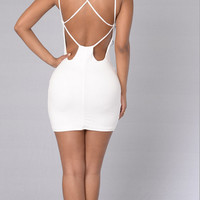 Criss Cross Backless Bodycon Dress 10835