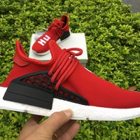 ADIDAS X PHARRELL PW HUMAN RACE NMD BB0616 BOOST RED Running shoes for Women & Men Size: 36--46