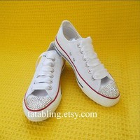 Bling Converse/Shoes with swarovski stones/Wedding Converse