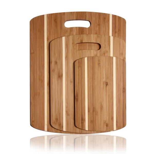 Image of Oval Double-Striped Cutting Board (Set of 3)