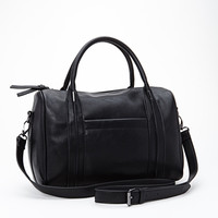 FOREVER 21 Round Faux Leather Satchel
