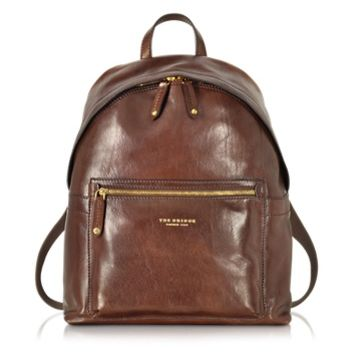 The Bridge Designer Backpacks Sfoderata Lux Uomo Marrone Leather Backpack