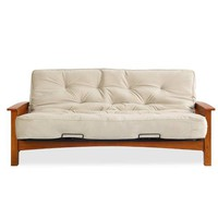 Simmons® Denver Futon Frame with 8-Inch Beautyrest® Pocketed Coil Futon Mattress in Taupe