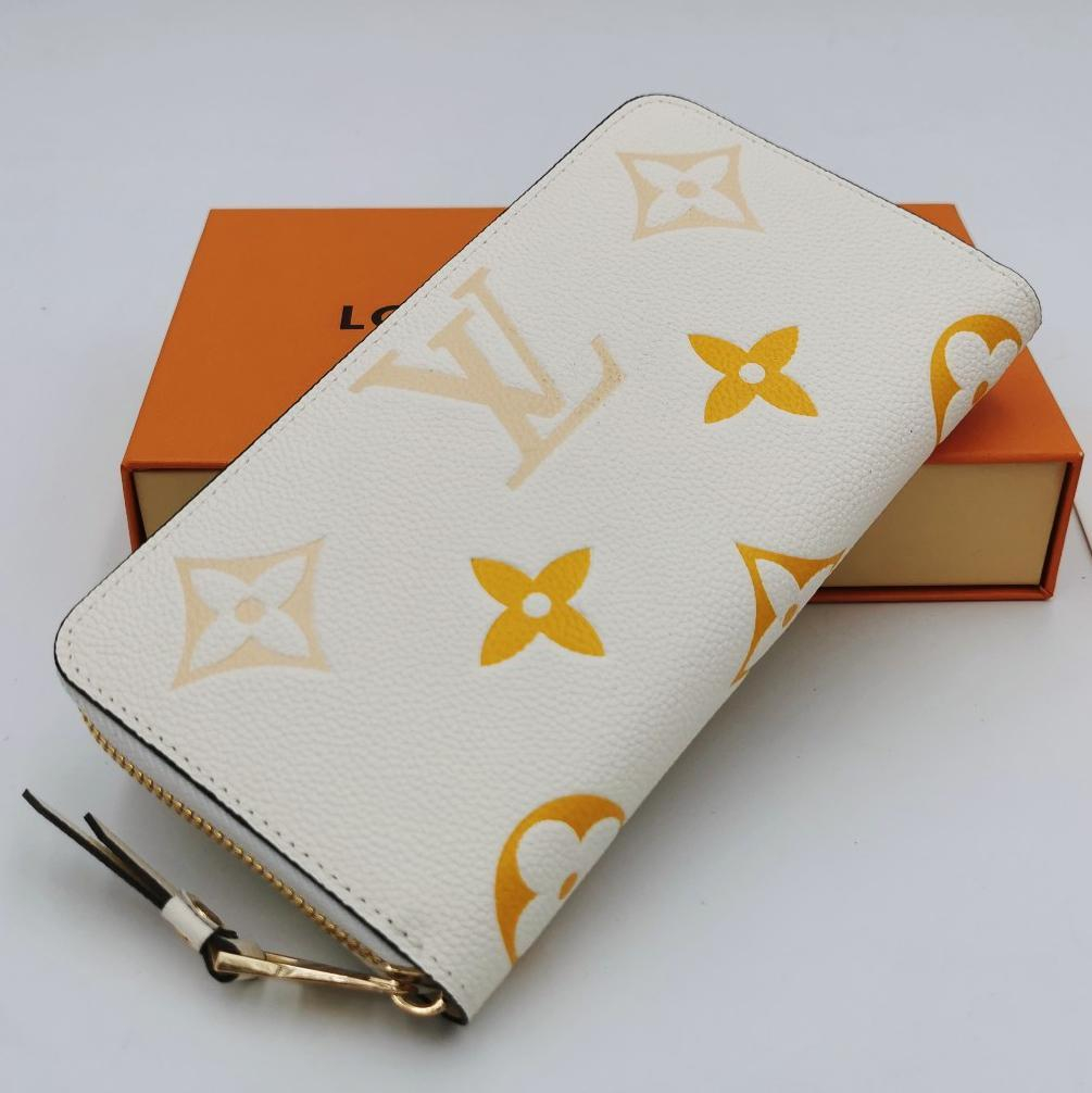 Image of LV Louis Vuitton Color-changing Printed Letters Long Clutch Wallet Bag