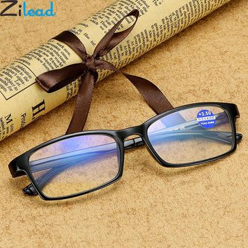 Zilead Ultra Light Anti Blue Ray Reading Glasses Women&Men Presbyopia Eyewear Glasses Myopia Frame+1.0+1.5+2.0+2.5 +3.0+3.5+4.0