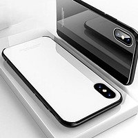 Luxury Slim Mirror Case with Soft Silicone Frame for iPhones
