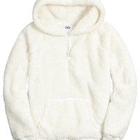 HOODED FLEECE PULLOVER   GIRLS {CATEGORY} {PARENT_CATEGORY}   SHOP JUSTICE