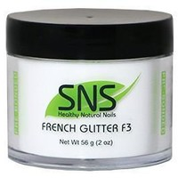 SNS Dipping Powder French White Glitter F3 2 oz