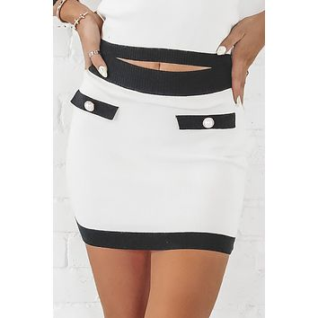 Leave A Message Ivory Sweater Skirt