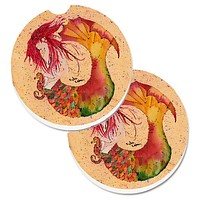 Mermaid Set of 2 Cup Holder Car Coasters 8339CARC