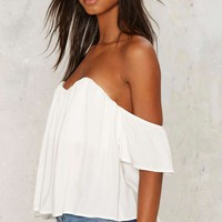 No Time to Cry Off Shoulder Top