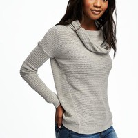Stitchy Cowl-Neck Pullover for Women | Old Navy