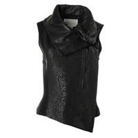Two by Vince Camuto Womens Ponte Coated Casual Vest