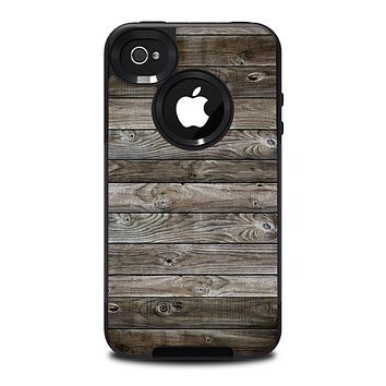 The Rough Wooden Planks V4 Skin for the iPhone 4-4s OtterBox Commuter Case