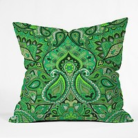 Aimee St Hill Paisley Green Throw Pillow