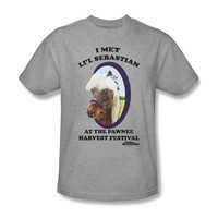 Parks & Recreation - Lil' Sebastian Adult T-Shirt In Heather, Size: Medium, Color: Heather