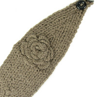 Solid Rose Knitted Headband