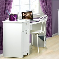 Nexera 310803 Dixie Desk/Vanity, White