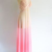 vintage Ombre pink gown | vintage pink gown