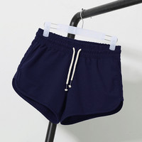 Hot Fashion Solid Soft Cotton Shorts Women Female MId Waist Short Pants Women Plus Size Loose Jogging Gym Short Femme