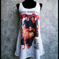RHCP, Red Hot Chili Peppers Mini Dress Dresses Tank Top Gray Rocker Women Girl Grey Size S,M,L