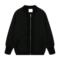 Quilted Wind Bomber Jacket