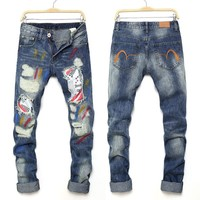 Ripped Holes Men Pants Baggy Jeans Jeans [1574711361629]