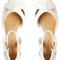 New Look Justify White 2 Part Strap Flat Shoes