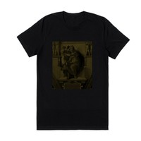 """The """"Delphica"""" T-Shirt in Black//Gold"""