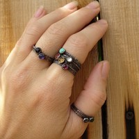Mothers Rings Tiny Stacking Rings Pick any 4 by LunasaDesigns