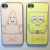 Sponge bob best friend cases for iphone 4/4s, iPhone 5, and Samsung s3