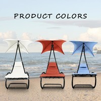 US Stock Rocking Outdoor Patio Chaise Lounge Chair Canopy Garden Porch Pool Chaise