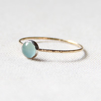 Arctic Blue Ice on a Golden Thread  Simple Sweet Stack by MARYJOHN