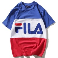 Fila Woman Men Fashion Casual Shirt Top Tee