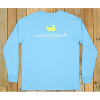 Southern Marsh Authentic Long Sleeve Tee- Breaker Blue