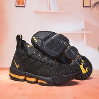 LeBron James 16 XVI Basketball Sneaker - Black/Gold