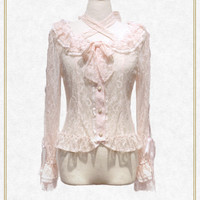 Be My Valentine お花レースアップブラウス/Be My Valentine flower lace up blouse   BABY,THE STARS SHINE BRIGHT