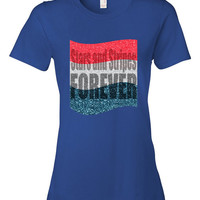4th of July Shirt Women's Stars and Stripes Forever