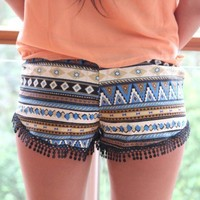 Cultured Aztec Printed Shorts