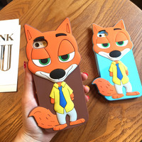 Zootopia 3D Nick Fox Soft Silicone iphone Case